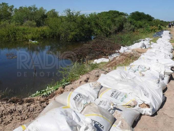 Colastiné Sur: filtró agua y trabajan para proteger la defensa