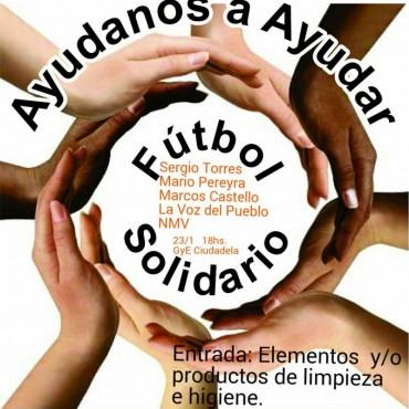 Reconocidos ex jugadores y políticos juntos en fútbol solidario por damnificados vulnerables