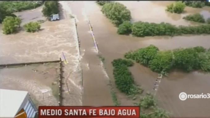 Así se veía la inundación desde el aire