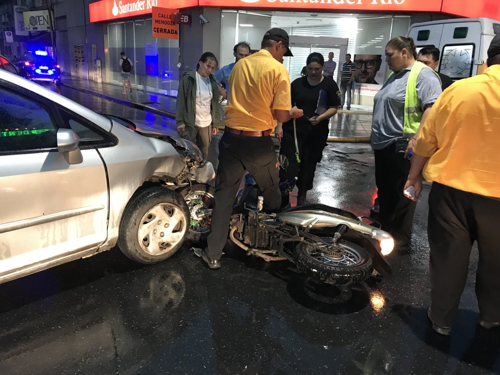 Accidente en pleno centro de la ciudad