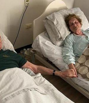 Abuelitos fallecieron tomados de la mano después de 70 años de casados