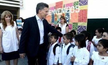 Macri anunció un proyecto de ley para que el ciclo escolar empiece a los 3 años