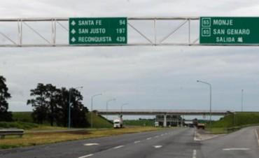 Licitan la repavimentación de una parte de la autopista Santa Fe - Rosario