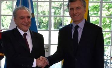 Macri viajó a Brasil para reunirse con Temer