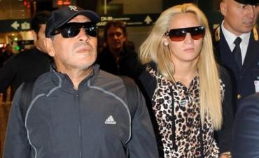 Maradona discutió con su mujer en Madrid y tuvo que intervenir la policía