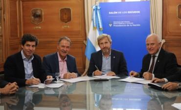 Nación firmó convenio con Córdoba y Santa Fe para licitar obras en el Canal San Antonio
