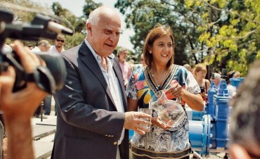 Lifschitz inauguró la primera etapa del acueducto Desvío Arijón