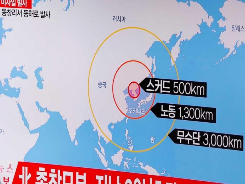 Corea del Norte lanzó cuatro misiles en dirección al mar de Japón