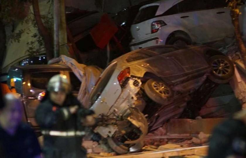 Se derrumbó una concesionaria de autos en Buenos Aires