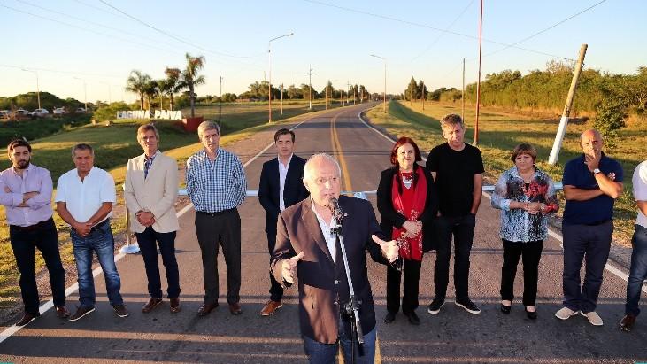 Lifschitz dejó inaugurado el nuevo acceso a la ciudad de Laguna Paiva