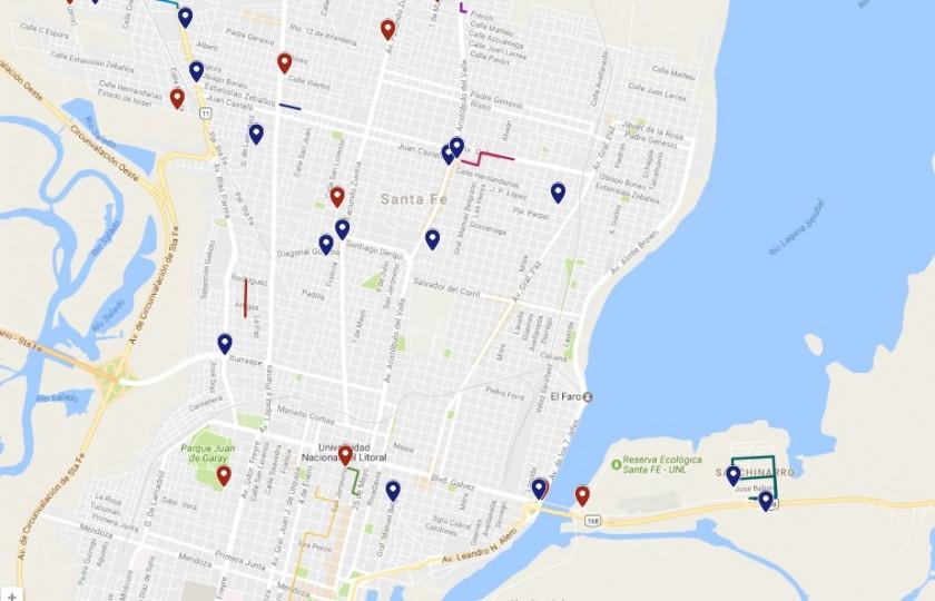 Estado del tránsito en la capital provincial y accesos