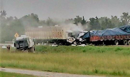 Chocaron dos camiones en la Ruta 34: hay un muerto