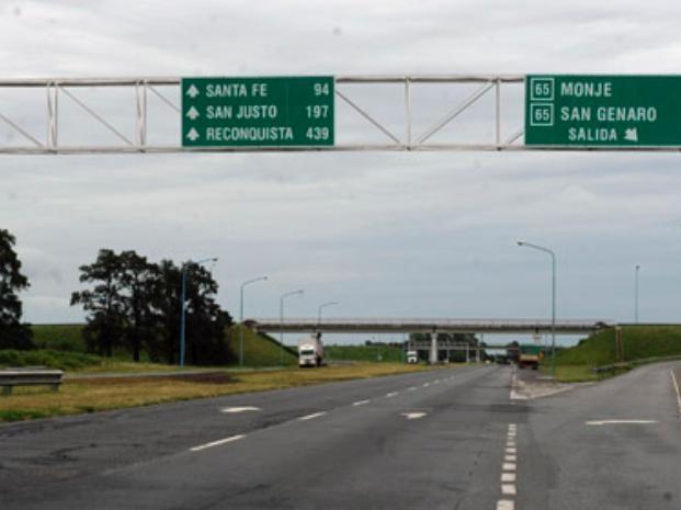 Estado del tránsito en rutas y accesos de la provincia