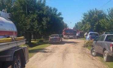 Mujer murió tras incendiarse su casa en Funes