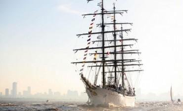 La Fragata Libertad inició su viaje número 46