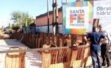 Avanza la construcción del desagüe El Sable