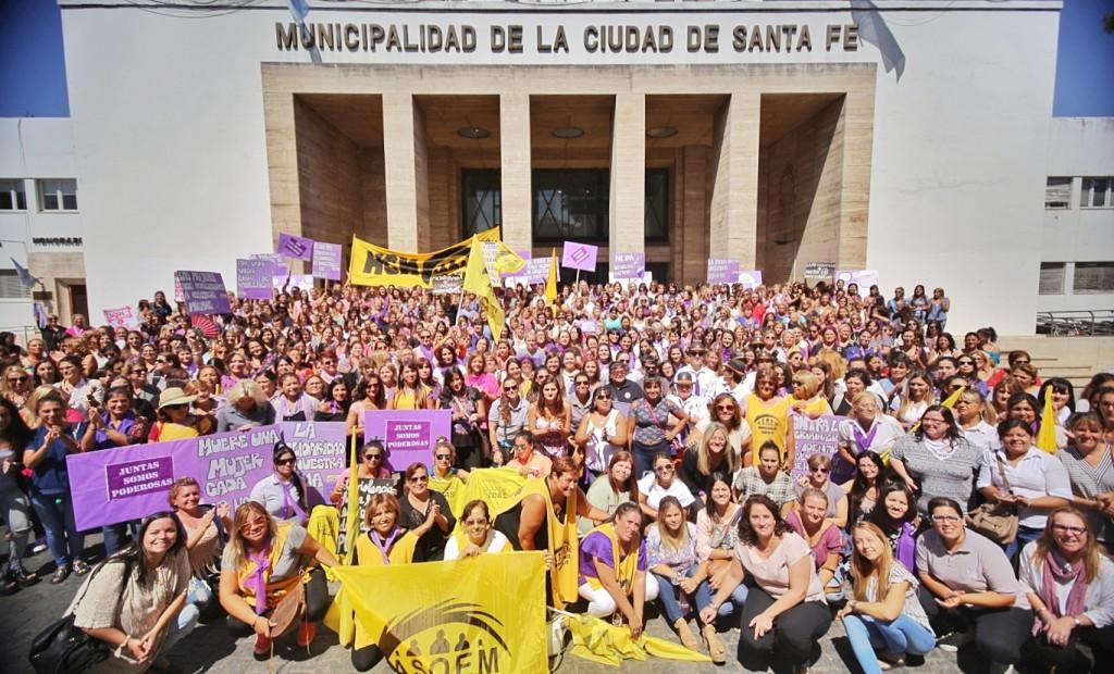Municipio y Asoem adhirieron conjuntamente al Paro Internacional de Mujeres