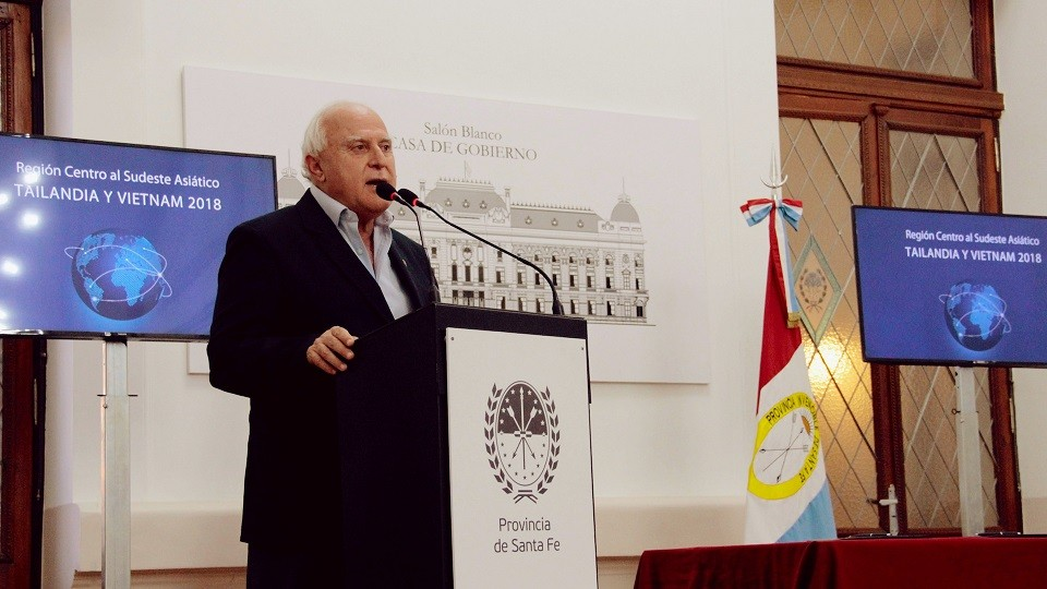 La provincia de Santa Fe participará de una misión comercial al sudeste asiático