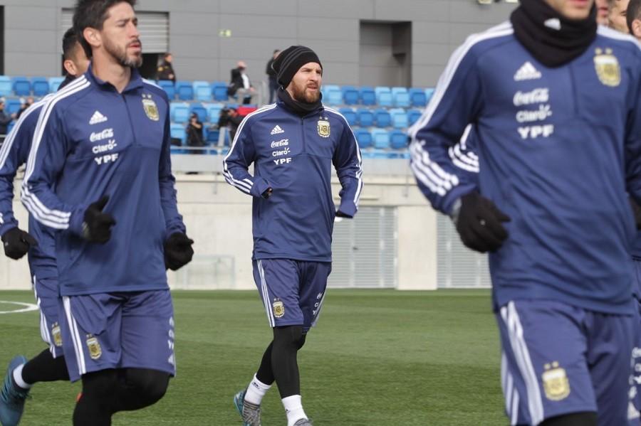 Segundo entrenamiento de la Selección Argentina
