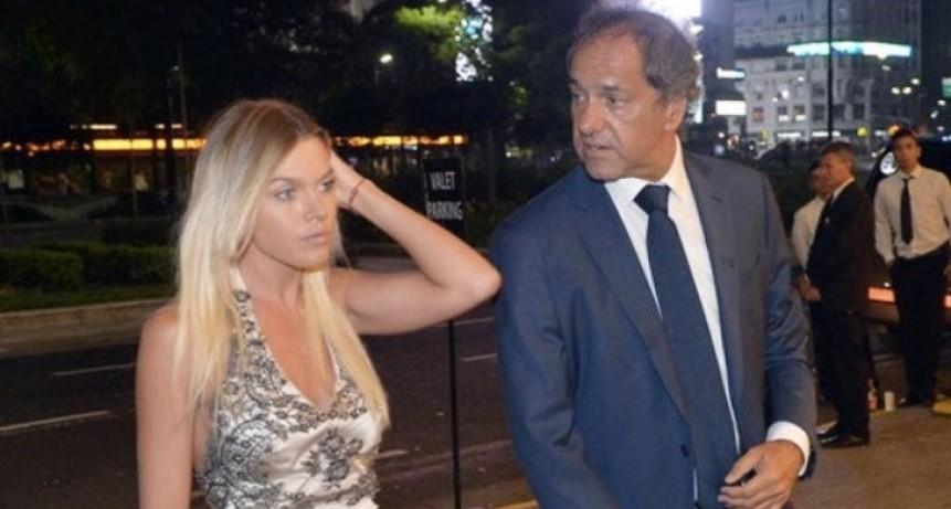 Daniel Scioli y Gisela Berger, separados a cinco meses del nacimiento de su hija