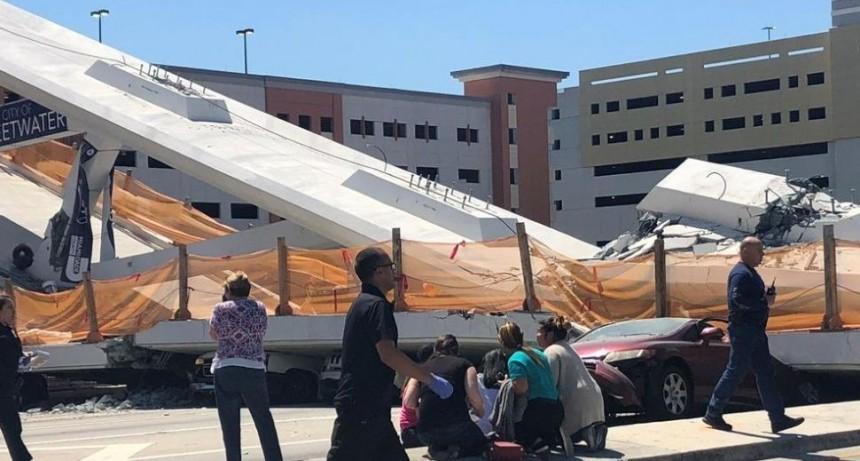 Seis muertos al derrumbarse puente en Miami