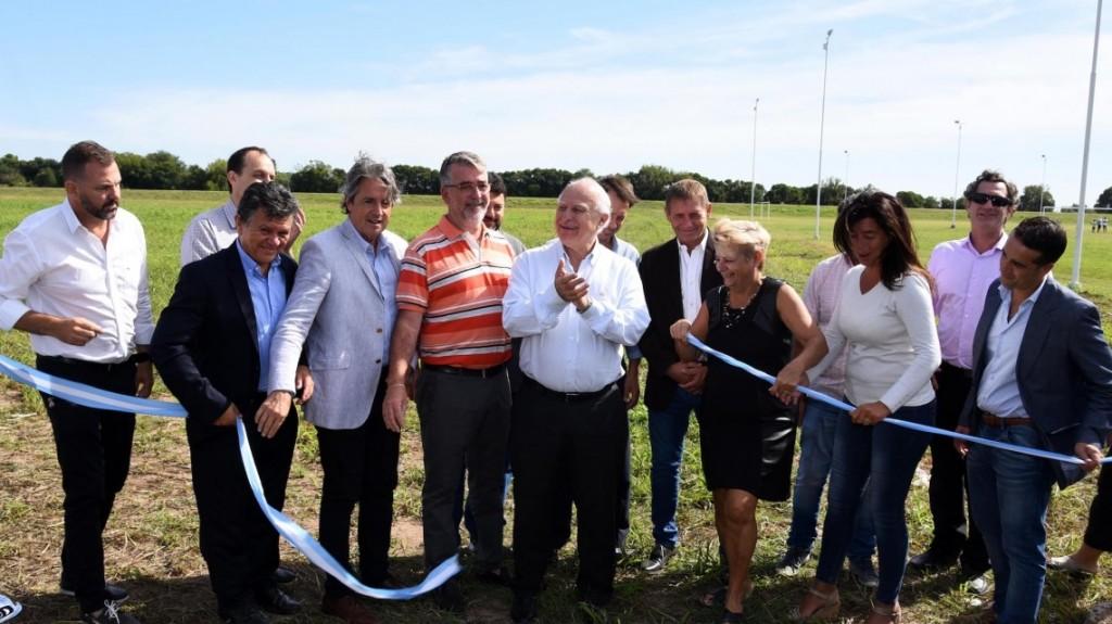 Lifschitz inauguró importante obra para evitar inundaciones en Cañada de Gómez