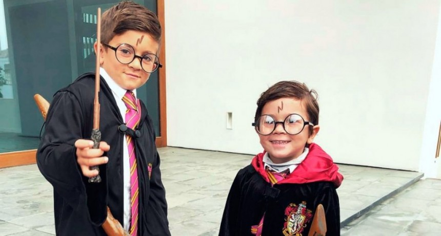 Las fotos de Thiago y Mateo Messi como Harry Potter