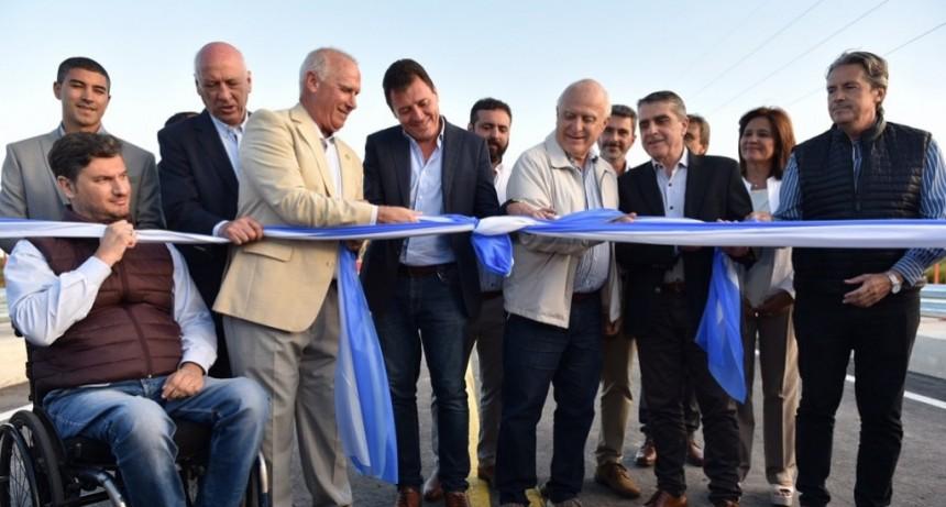 Lifschitz inauguró el puente que une San Lorenzo y Puerto General San Martín