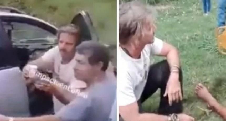 Facundo Arana asistió a heridos en accidente en la autopista Santa Fe - Rosario