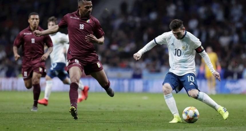Argentina decepcionó frente a Venezuela
