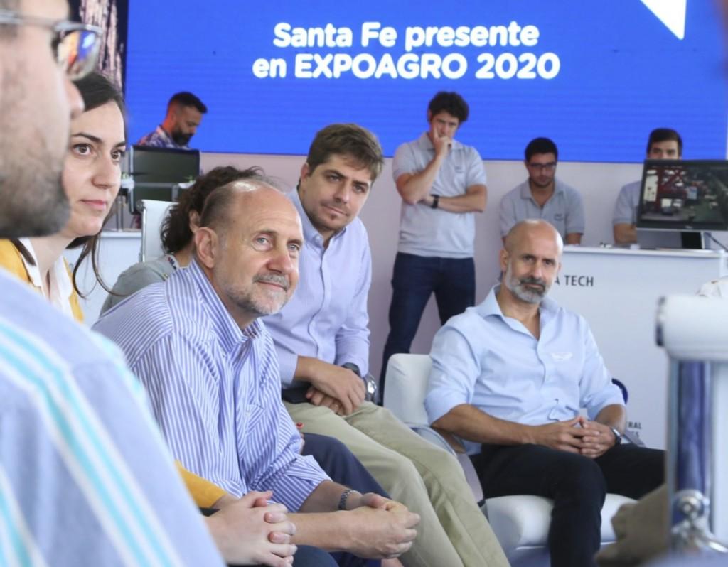Perotti destacó la presencia del sector científico tecnológico santafesino en Expoagro