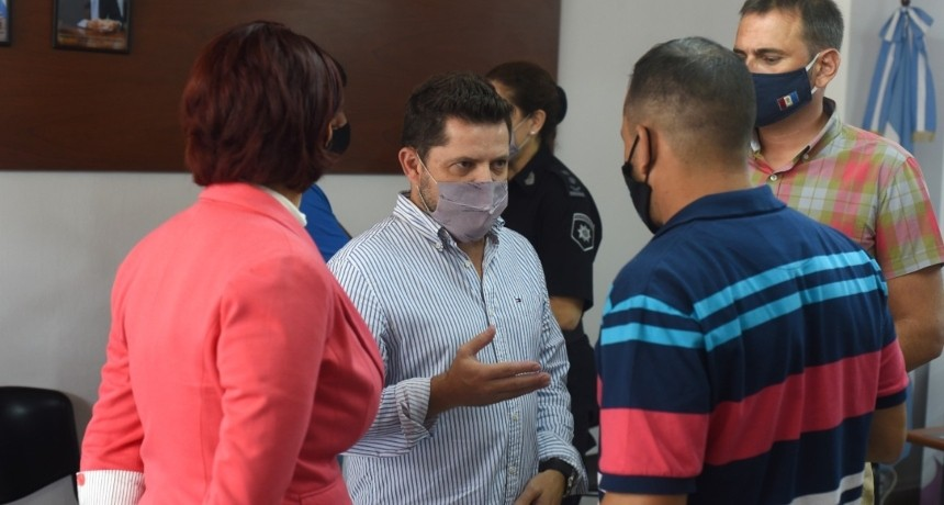 En Recreo, Castelló y Formento recibieron a funcionarios de Seguridad y comerciantes