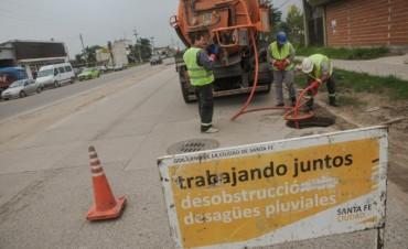 Emergencia hídrica: el Municipio intensifica los trabajos en los desagües