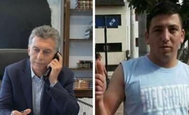 Mauricio Macri llamó a la familia del hincha de Belgrano asesinado