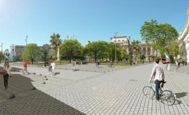 Se presenta la remodelación de la plaza 25 de Mayo
