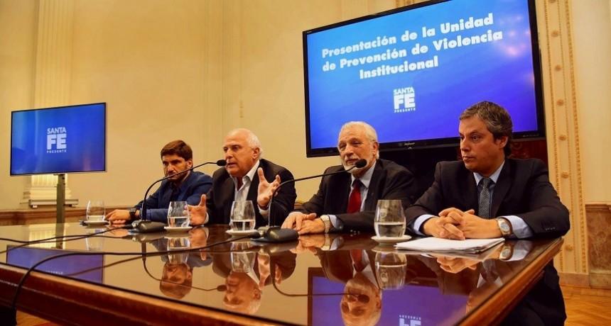 Lifschitz presentó la Unidad de Prevención de Violencia Institucional