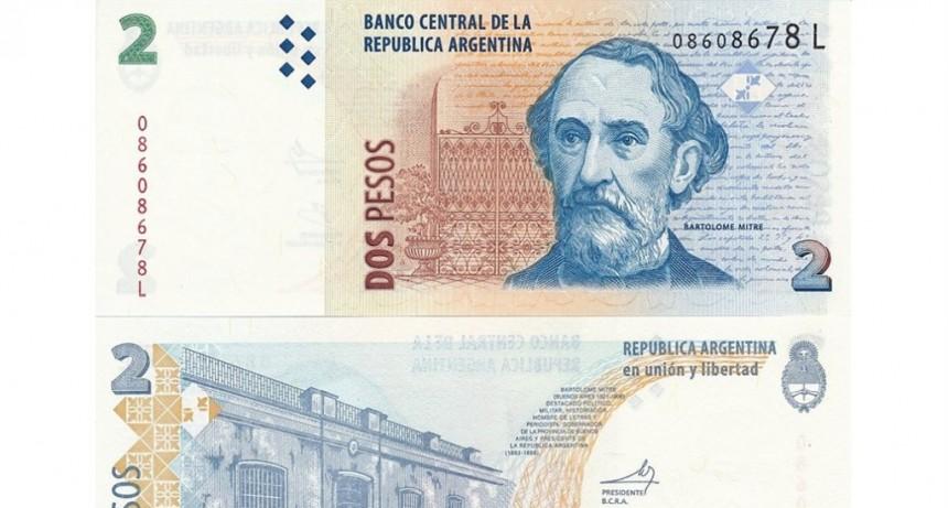Hay más tiempo para canjear los billetes de 2 pesos por monedas