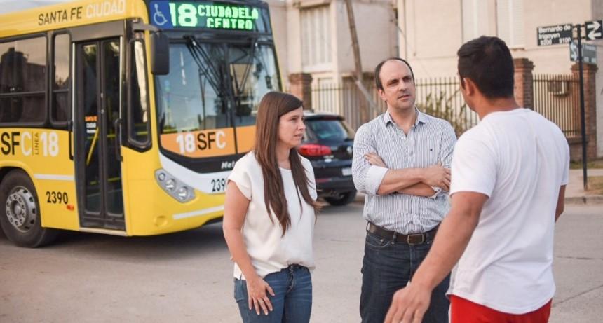 Plan Norte: José Corral recorrió obras de pavimentación en Liceo Norte