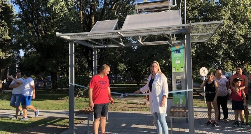 Se inauguró una estación solar en Emilia