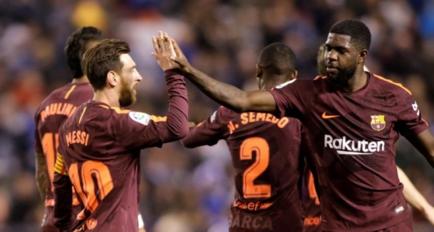 Con un triplete de Messi, Barcelona gritó campeón