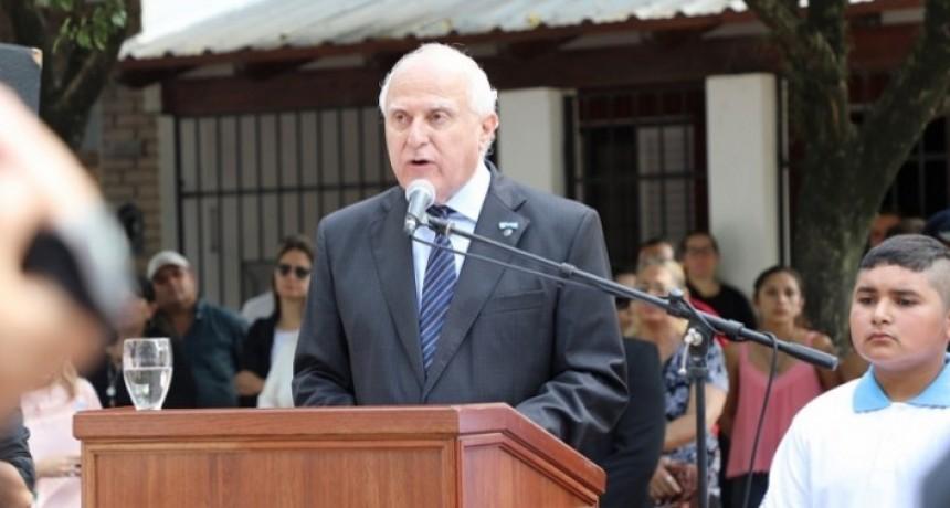Lifschitz encabezó el acto en conmemoración del Día del Veterano y los caídos en Malvinas