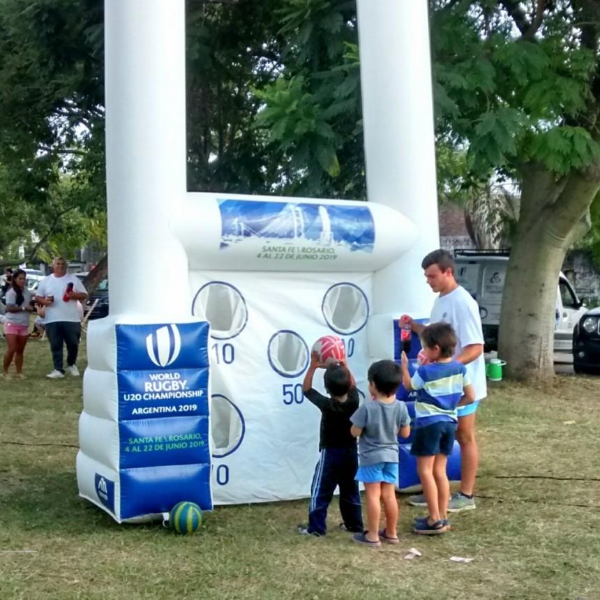 El Parque Federal fue escenario de la previa del Mundial U20 de Rugby