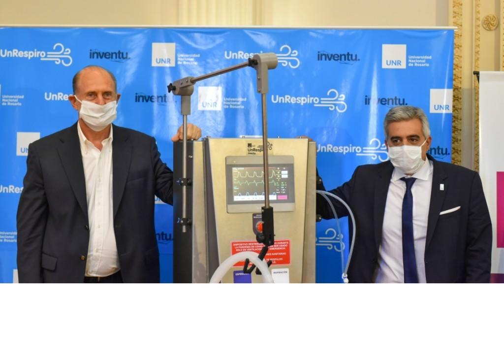 Perotti y Trotta presentaron el ventilador de transición con afectación específica a pacientes Covid-19
