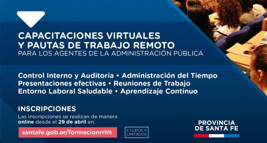La provincia ofrece capacitaciones virtuales y pautas de trabajo remoto a agentes de la Administración Pública