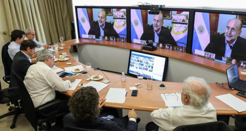 Perotti en videoconferencia con el presidente Fernández: