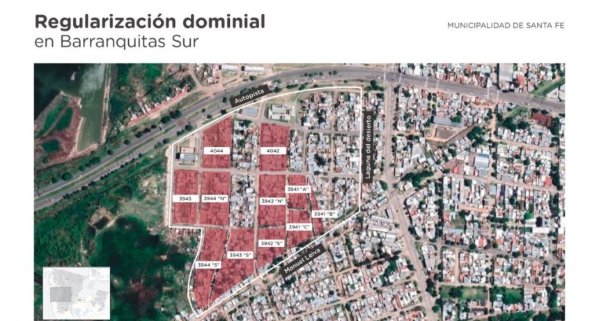 La Municipalidad avanza con la regularización dominial en Barranquitas Sur