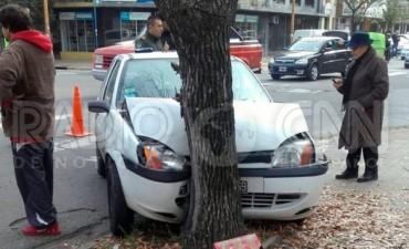 Durante la mañana de este jueves, se produjo un accidente calle San Luis y Crespo.