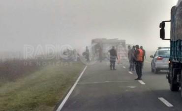 Un accidente en Ruta 2 dejó tres muertos