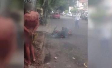 Jujuy: un grupo de comerciantes ató a un ladrón después de sorprenderlo robando