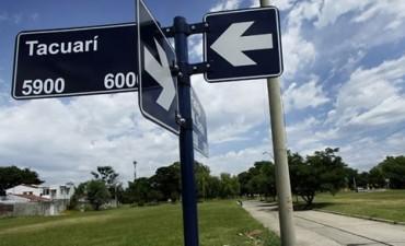 Renovarán y colocarán unos 3 mil carteles con nombres de calles